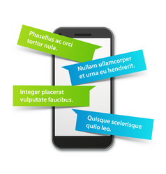 smartphone chat vector image