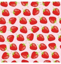strawberries background vector image