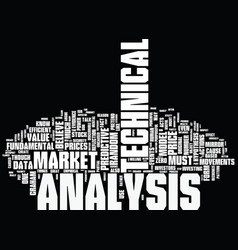 The logic behind technical analysis text vector