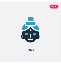 two color hindu icon from religion concept vector image