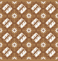 typical art work solo batik with unique motif vector image