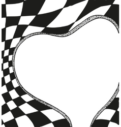 Valentines Day Frame in the form of heart with a vector image