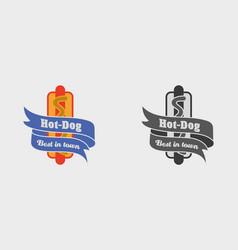 vintage fast food logo sign label or vector image