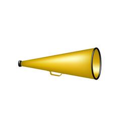 vintage megaphone in orange design vector image