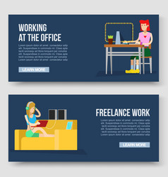 working at home and freelance vector image