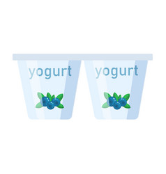Yogurt in a flat style isolated vector