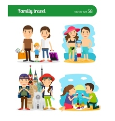 Family travel people vector image vector image