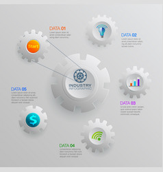 Infographic business industry vector