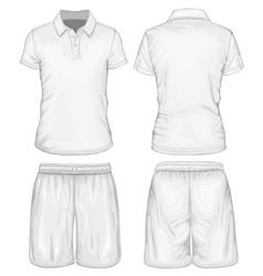 Mens polo-shirt and sport shorts vector image vector image