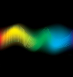 rainbow stream background vector image vector image