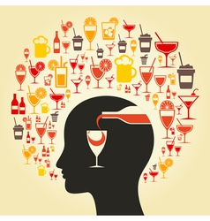 Alcohol a head vector image vector image