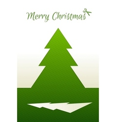 Cutted Paper Christmas tree vector image