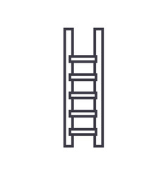 ladderstairs line icon sign vector image