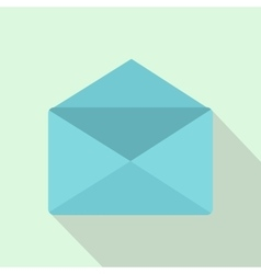 Open envelope icon flat style vector image vector image