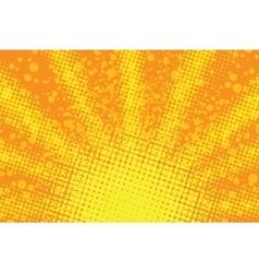 Sunrise pop art retro background vector image vector image