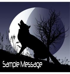 wolf moon vector image