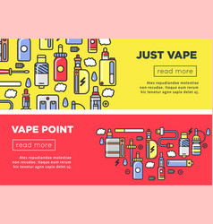 Just vape point promotional internet page with vector