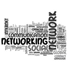 network word cloud concept vector image vector image