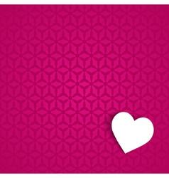 pink valentine card vector image