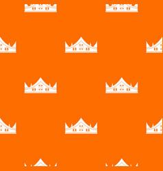 royal crown pattern seamless vector image vector image