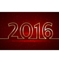 2016 new year greeting red vector image
