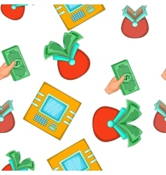 Money pattern cartoon style vector image vector image