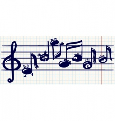 music stave vector image vector image