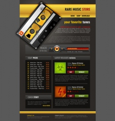music store brochure vector image vector image