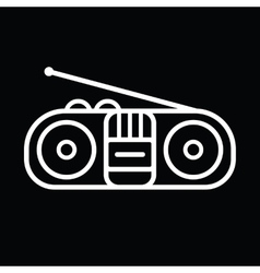 Old Cassette Player vector image vector image