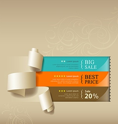 Show colorful paper roll for sales collections vector image