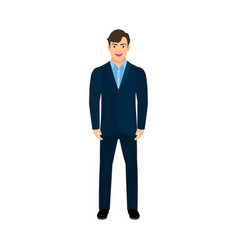 young smiling manager man vector image vector image