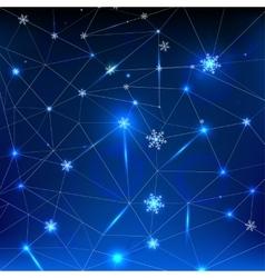 01 Snowflakes Polygonal vector image
