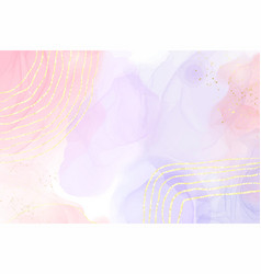 Abstract two colored pink and violet liquid marble vector