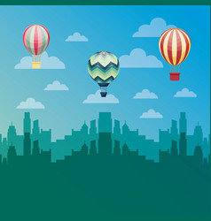 air balloon flying vector image