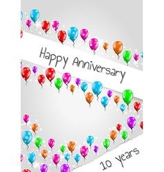 anniversary poster 10 years vector image