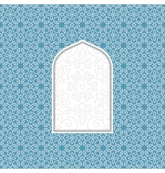 arabian window vector image
