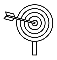 arrow target icon outline style vector image