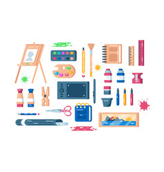 Art supplies set vector