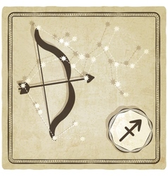 astrological sign - sagittarius vector image