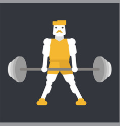 Athlete doing deadlift exercise vector