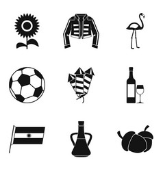 Binge icons set simple style vector
