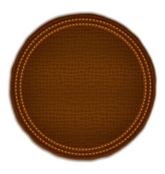 Brown Leather Label vector image