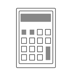 calculator with square buttons graphic vector image