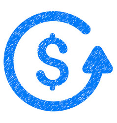 Chargeback grunge icon vector