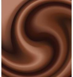 Chocolate swirl vector