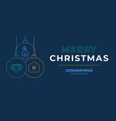 Christmas coronavirus ball banner christmas vector