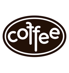 coffee isolated coffee logo on white background vector image