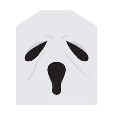 cute halloween cartoon ghost avatar vector image