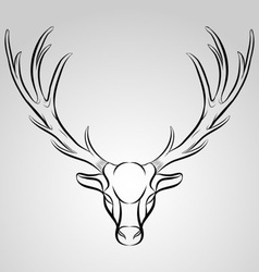 Dead Deer Trophy vector image