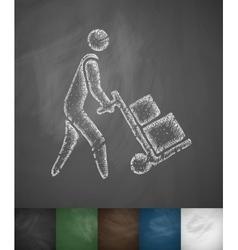 delivery man icon vector image